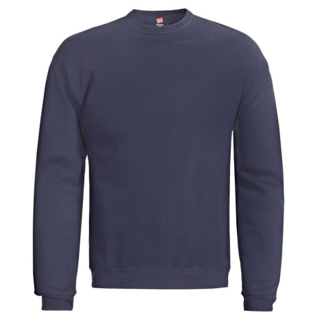 Hanes Premium EcoSmart Sweatshirt - Cotton Fleece (For Men and Women) in Navy