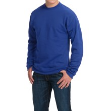 Hanes Premium EcoSmart Sweatshirt - Cotton Fleece (For Men and Women) in Royal - 2nds