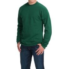 Hanes Premium EcoSmart Sweatshirt - Cotton Fleece (For Men and Women) in Sage - 2nds