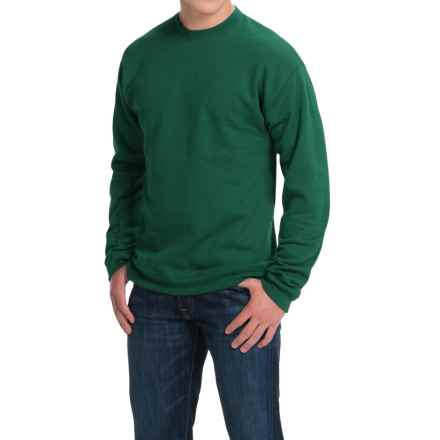 Hanes Premium EcoSmart Sweatshirt - Cotton Fleece (For Men and Women) in Sage - 2nds