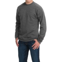 Hanes Premium EcoSmart Sweatshirt - Cotton Fleece (For Men and Women) in Slate Heather - 2nds