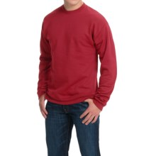 Hanes Premium EcoSmart Sweatshirt - Cotton Fleece (For Men and Women) in Wine - 2nds