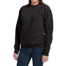 Hanes Premium EcoSmart Sweatshirt - Crew Neck (For Women) in Black - 2nds