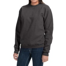 Hanes Premium EcoSmart Sweatshirt - Crew Neck (For Women) in Charcoal Heather - 2nds