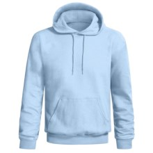 Hanes Printpro Cotton-Rich Fleece Pullover Hoodie (For Men and Women) in Light Blue - 2nds