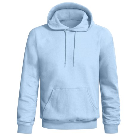 Hanes Printpro Cotton-Rich Fleece Pullover Hoodie (For Men and Women) in Light Blue