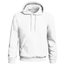 Hanes Printpro Cotton-Rich Fleece Pullover Hoodie Sweatshirt (For Men and Women) in White - 2nds