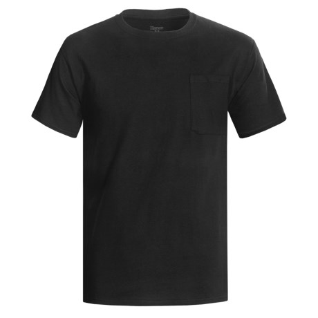 Hanes Professional-Grade Work T-Shirt - Crew Neck, Short Sleeve (For Men) in Black