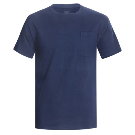 Hanes Professional-Grade Work T-Shirt - Crew Neck, Short Sleeve (For Men) in Navy