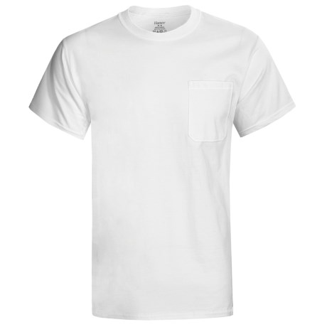 Hanes Professional-Grade Work T-Shirt - Crew Neck, Short Sleeve (For Men) in White