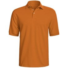 Hanes Stedman Sport Polo Shirt - Cotton Pique, Short Sleeve (For Men) in Burnt Orange - 2nds