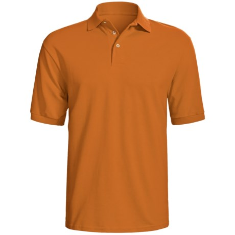 Hanes Stedman Sport Polo Shirt - Cotton Pique, Short Sleeve (For Men) in Burnt Orange