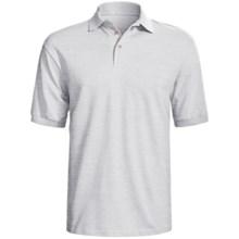 Hanes Stedman Sport Polo Shirt - Cotton Pique, Short Sleeve (For Men) in Light Grey Heather - 2nds