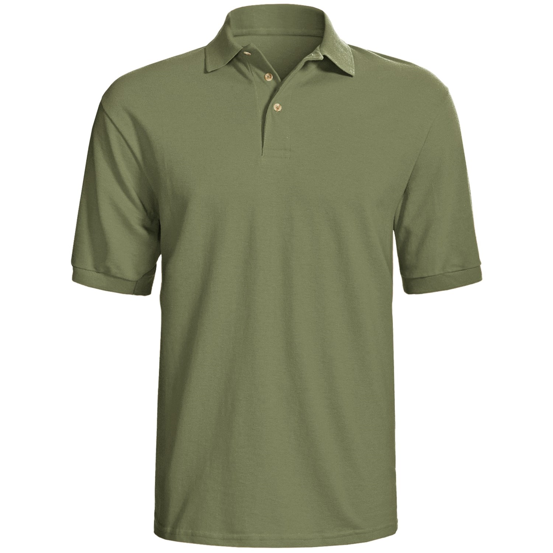 hanes stedman sport polo shirt cotton pique short
