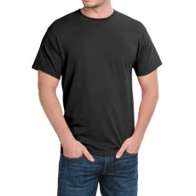 Hanes Stretch Cotton T-Shirt - Short Sleeve (For Men and Women) in Black - 2nds