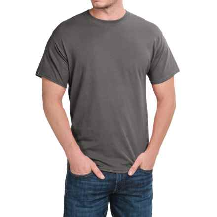 Hanes Stretch Cotton T-Shirt - Short Sleeve (For Men and Women) in Dark Grey - 2nds