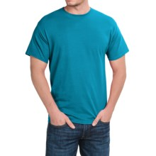 Hanes Stretch Cotton T-Shirt - Short Sleeve (For Men and Women) in Turquoise - 2nds