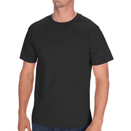 Hanes Tagless Cotton T-Shirt - Short Sleeve (For Men and Women) in Black