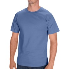 Hanes Tagless Cotton T-Shirt - Short Sleeve (For Men and Women) in Blue Grey - 2nds