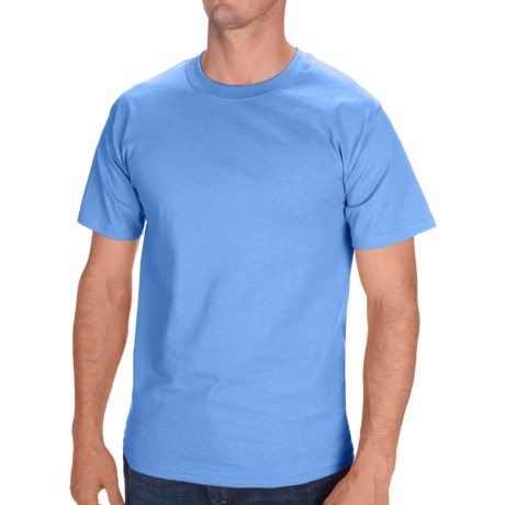 Hanes Tagless Cotton T-Shirt - Short Sleeve (For Men and Women) in Blue