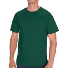 Hanes Tagless Cotton T-Shirt - Short Sleeve (For Men and Women) in Dark Green - 2nds