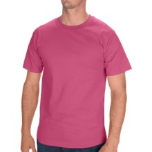 Hanes Tagless Cotton T-Shirt - Short Sleeve (For Men and Women) in Fuchsia - 2nds