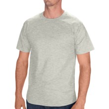 Hanes Tagless Cotton T-Shirt - Short Sleeve (For Men and Women) in Grey Heather - 2nds