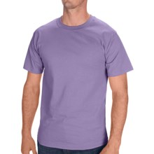 Hanes Tagless Cotton T-Shirt - Short Sleeve (For Men and Women) in Light Purple - 2nds