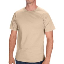 Hanes Tagless Cotton T-Shirt - Short Sleeve (For Men and Women) in Tan - 2nds