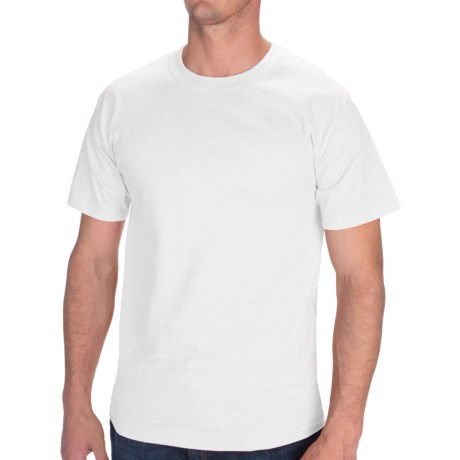 Hanes Tagless Cotton T-Shirt - Short Sleeve (For Men and Women) in White