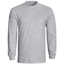 Hanes Tagless Pocket T-Shirt - Long Sleeve (For Men and Women) in Light Steel, Grey Heather - 2nds