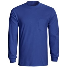 Hanes Tagless Pocket T-Shirt - Long Sleeve (For Men and Women) in Royal - 2nds