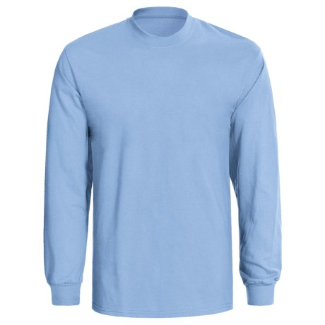 Hanes Tagless® T-Shirt - Long Sleeve (For Men and Women) in Light Blue