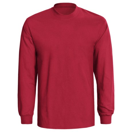Hanes Tagless® T-Shirt - Long Sleeve (For Men and Women) in Red