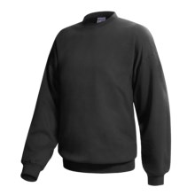 Hanes Ultimate Cotton Crew Fleece Sweatshirt  (For Men and Women) in Black - 2nds