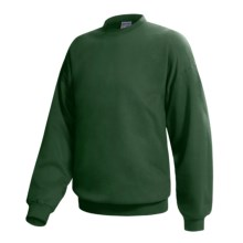 Hanes Ultimate Cotton Crew Fleece Sweatshirt  (For Men and Women) in Dark Green - 2nds