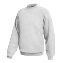 Hanes Ultimate Cotton Crew Fleece Sweatshirt  (For Men and Women) in Light Grey Heather - 2nds