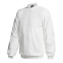 Hanes Ultimate Cotton Crew Fleece Sweatshirt  (For Men and Women) in White - 2nds
