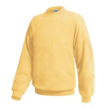 Hanes Ultimate Cotton Crew Fleece Sweatshirt  (For Men and Women) in Yellow - 2nds