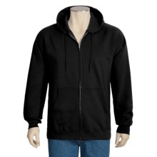 Hanes Ultimate Cotton Hoodie Sweatshirt - Full Zip (For Men and Women) in Black - 2nds