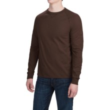 Hanes Ultimate V-Notch T-Shirt - Long Sleeve (For Men) in Dark Brown - Closeouts