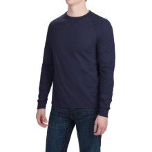 Hanes Ultimate V-Notch T-Shirt - Long Sleeve (For Men) in Navy - Closeouts