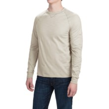 Hanes Ultimate V-Notch T-Shirt - Long Sleeve (For Men) in Tan - Closeouts