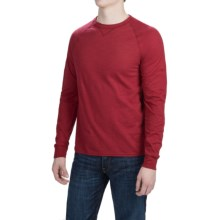 Hanes Ultimate V-Notch T-Shirt - Long Sleeve (For Men) in Wine - Closeouts