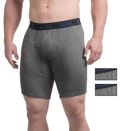Hanes Ultimate X-Temp® Boxer Briefs - 3-Pack (For Men) in Black Heather - Closeouts