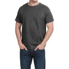 Hanes X-Temp® T-Shirt - Short Sleeve (For Men and Women) in Charcoal Heather - 2nds