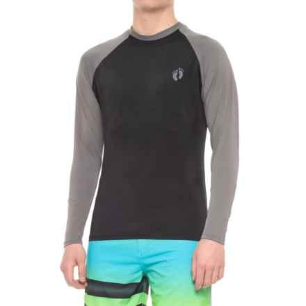 Hang Ten South Swell Rash Guard - Long Sleeve (For Men) in Black/Charcoal - Closeouts