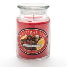 Hanna's Candle Natural Soy Blend Jar Candle - 23 oz. in Cranberry Mandarin - Closeouts