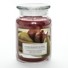 Hanna's Candle Natural Soy Blend Jar Candle - 23 oz. in Pomegranate & Pear - Closeouts