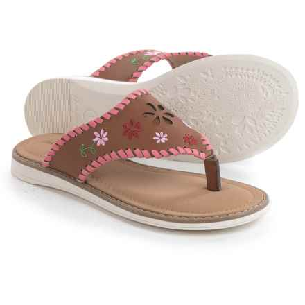 Hanna Andersson Dagmar Embellished Sandals (For Little and Big Girls) in Brown - Closeouts